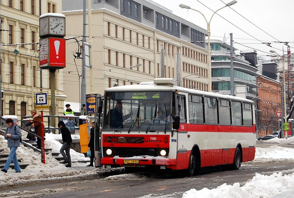 Fotogalerie » Karosa B732.1654.3 BSC 39-52 7380   Brno   střed   Nádražní   Hlavní nádraží