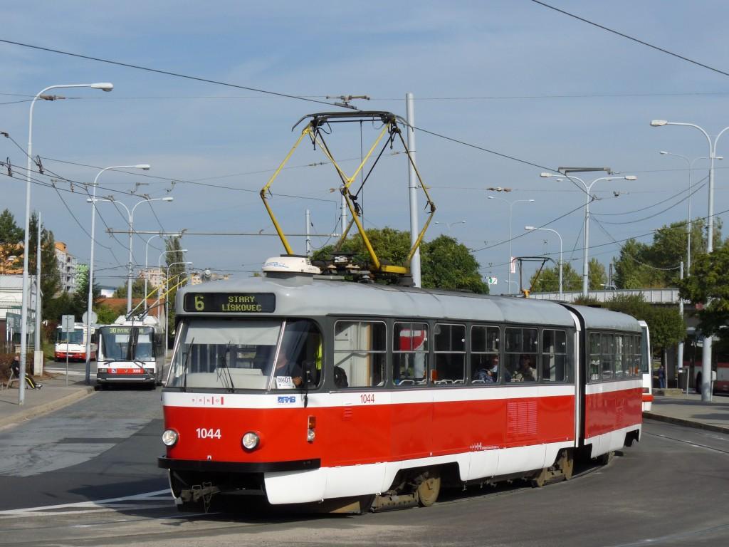 Fotogalerie » ČKD Tatra K2T 1044 | Brno | Královo Pole | Budovcova