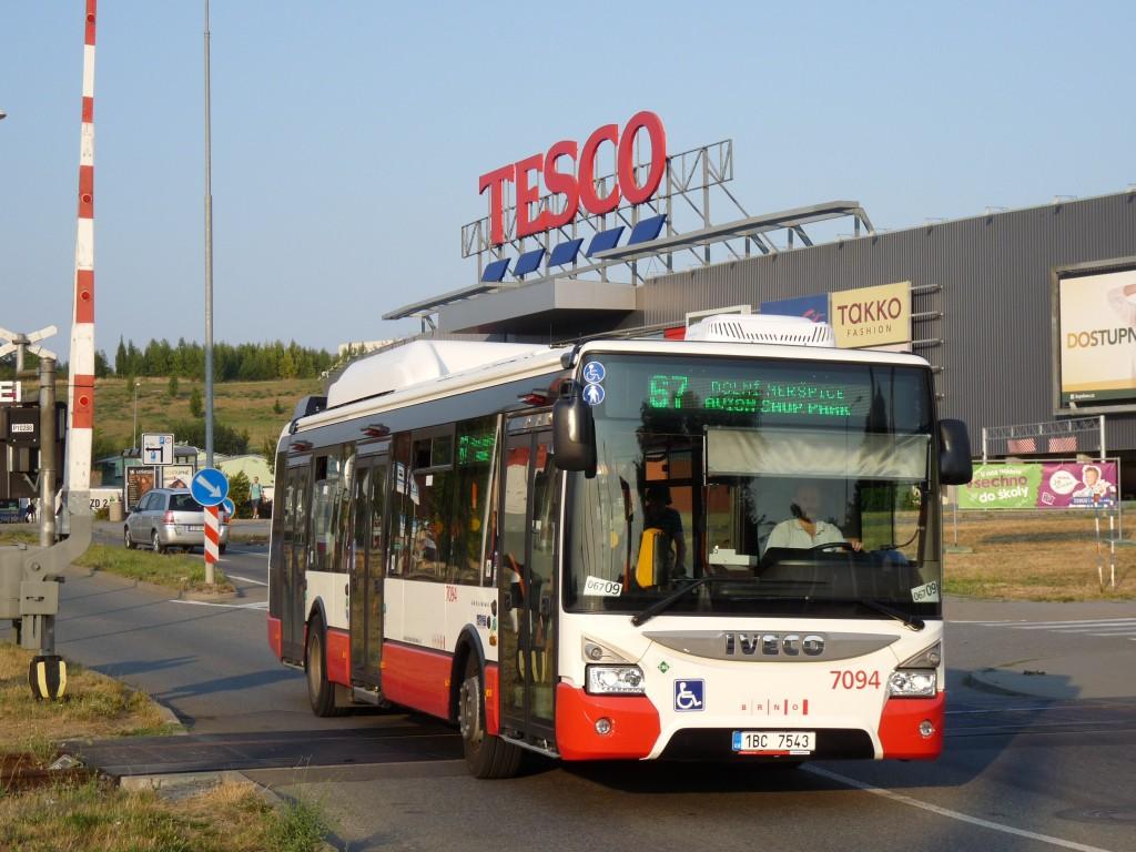 Fotogalerie » Iveco Urbanway 12M CNG 1BC 7543 7094 | Brno | Královo Pole | Cimburkova