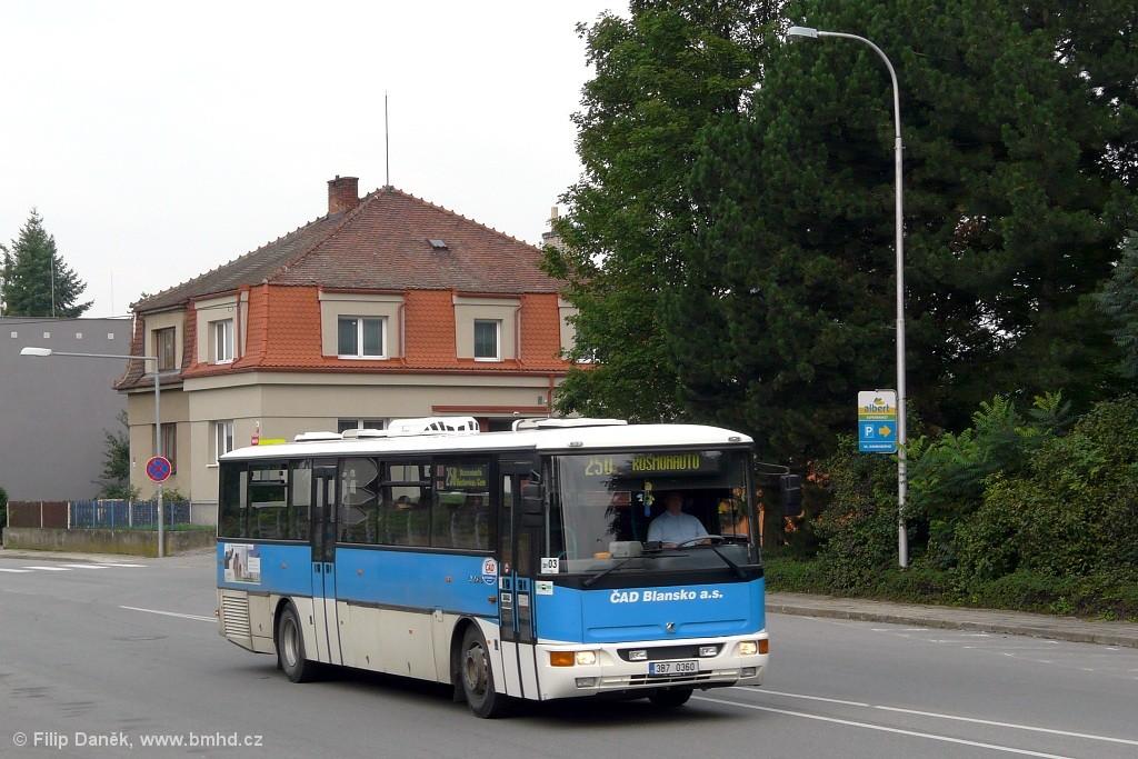 Fotogalerie » Karosa C954E.1360 3B7 0360 | Boskovice | Nádražní