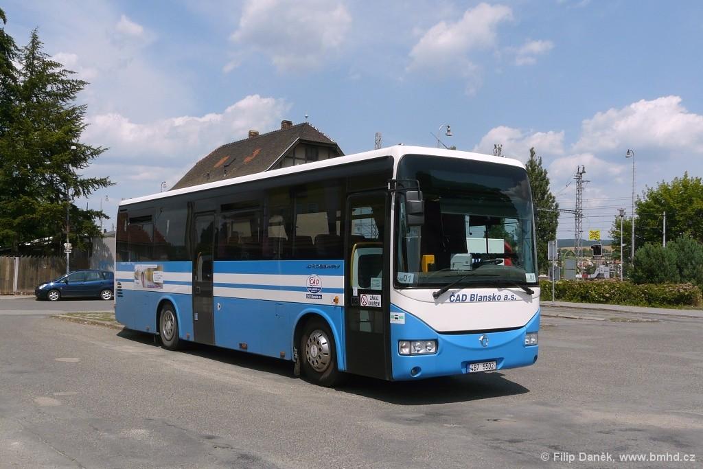 Fotogalerie » Irisbus Crossway 10.6M 4B7 5502   Rájec-Jestřebí   Rájec-Jestřebí, žel. st.