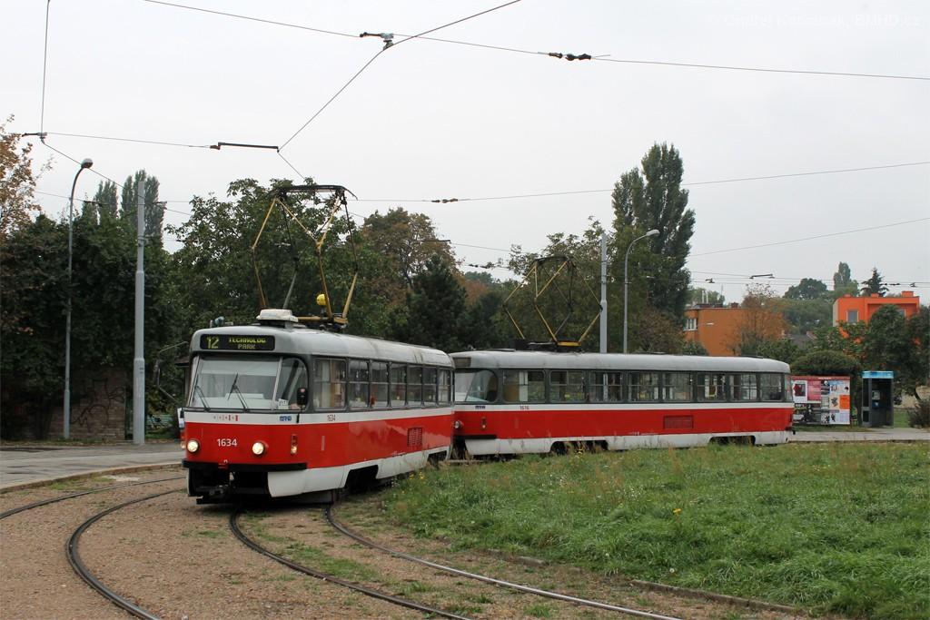 Fotogalerie » ČKD Tatra T3G 1634 | ČKD Tatra T3G 1616 | Brno | Komárov | Mariánské náměstí | Komárov