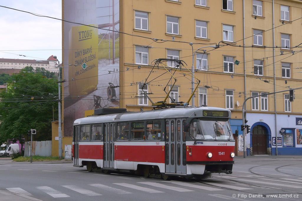 Fotogalerie » ČKD Tatra T3M 1541 | Brno | Staré Brno | Křížová