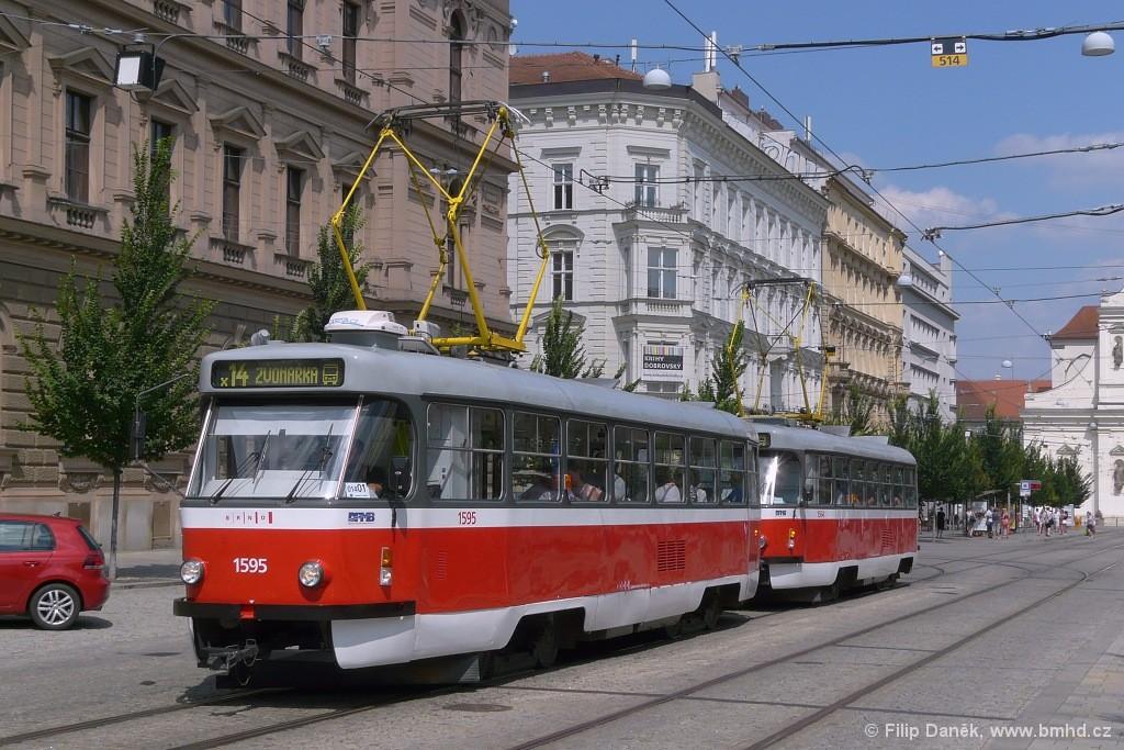 Fotogalerie » ČKD Tatra T3P 1595 | ČKD Tatra T3P 1564 | Brno | střed | Joštova