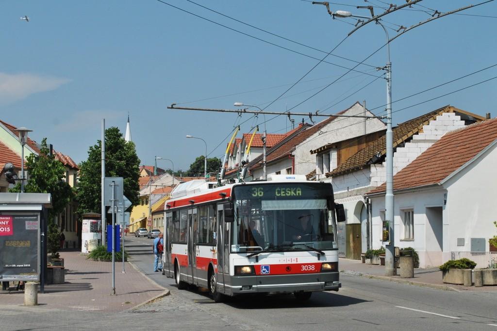 Fotogalerie » Škoda 21Tr 3038 | Brno | Komín | Hlavní | Svratecká