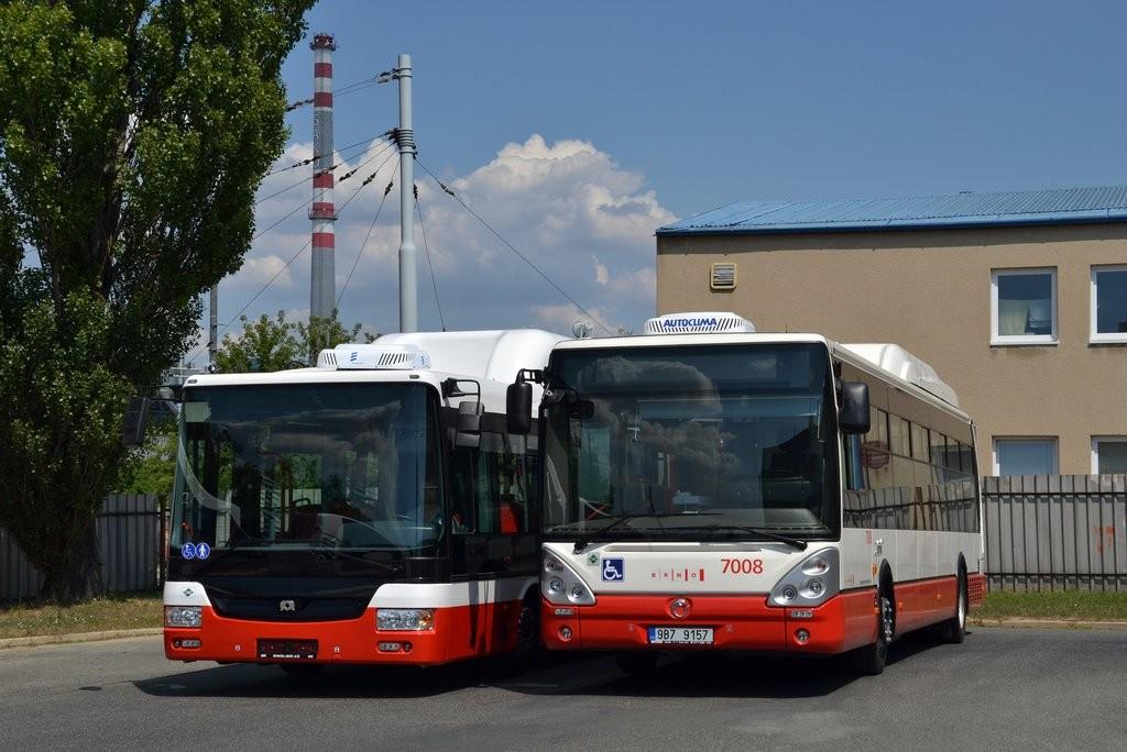 Fotogalerie » Irisbus Citelis 12M CNG 9B7 9157 7008   SOR NBG 12 9B7 9167 7004   Brno   Vozovna Slatina