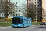 V rámci zkušebního provozu se do Brna podíval mimo jiné elektrobus Škoda 26BB HE Perun