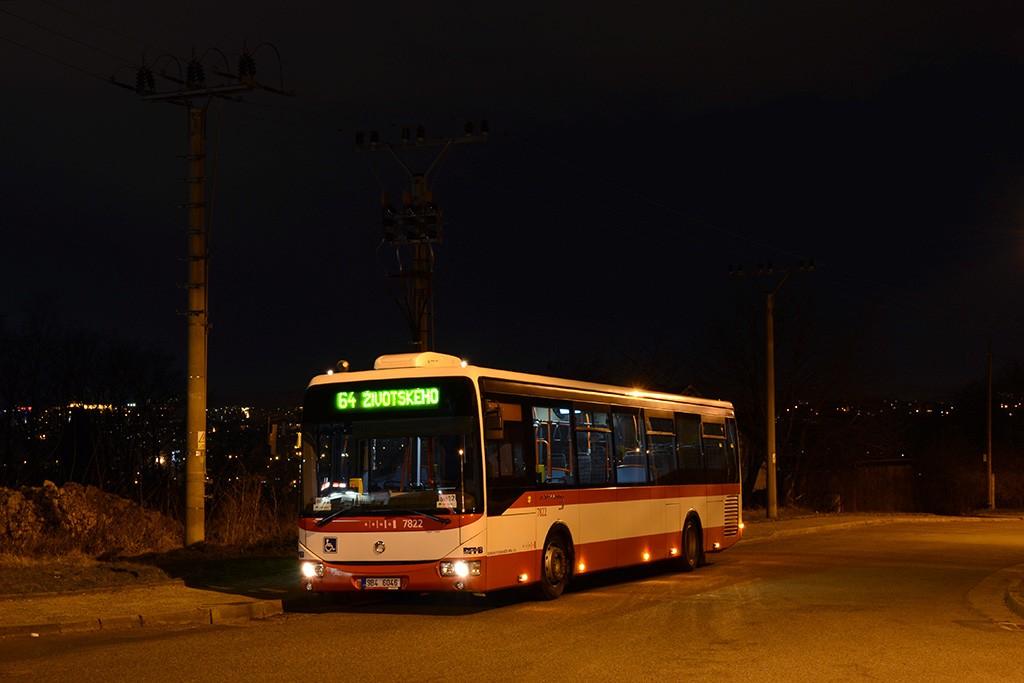 Fotogalerie » Irisbus Crossway LE 12M 9B4 6046 7822 | Brno | Maloměřice | Hády | Červený písek