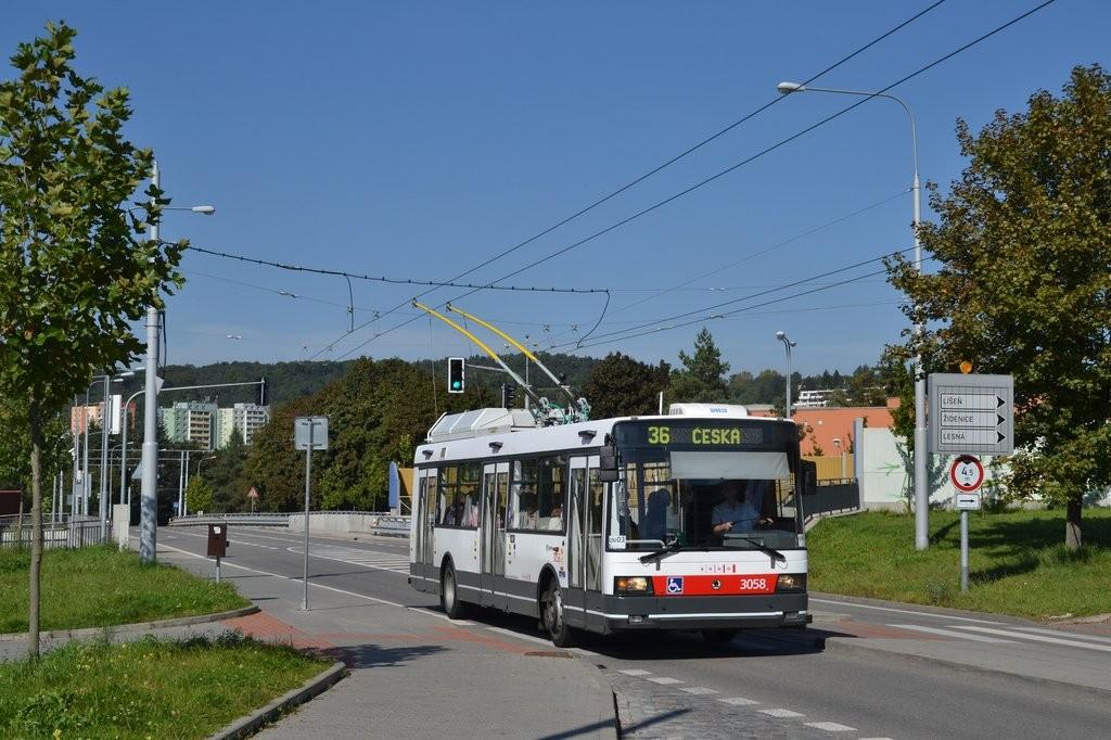 Fotogalerie » Škoda 21TrAC 3058 | Brno | Žabovřesky | Korejská | Náměstí Svornosti