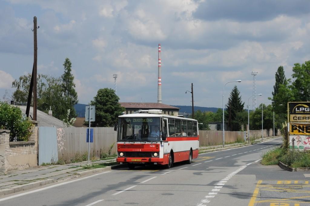 Fotogalerie » Karosa B731.1669 BSC 69-06 7418 | Brno | Maloměřice | Kulkova | Podsednická