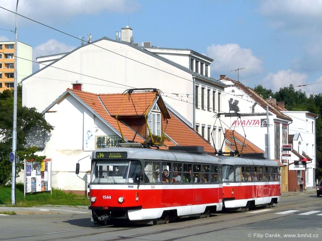 Fotogalerie » ČKD Tatra T3M 1544 | ČKD Tatra T3M 1557 | Brno | Žabovřesky | Horova