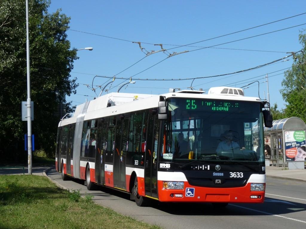 Fotogalerie » Škoda 31Tr 3633 | Brno | Starý Lískovec | Osová | Pod Nemocnicí