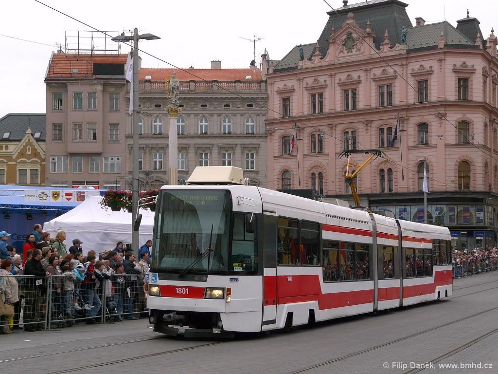 Fotogalerie » ČKD DS RT6N1 1801 | Brno | střed | náměstí Svobody