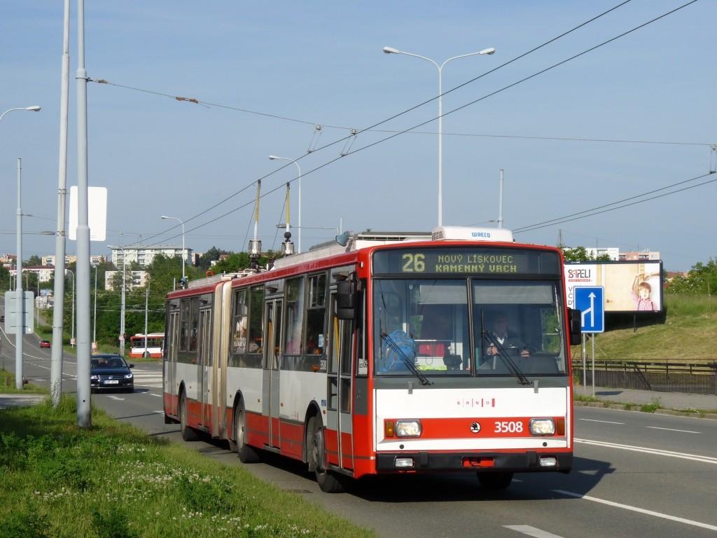 Fotogalerie » Škoda 15TrM 3508 | Brno | Líšeň | Novolíšeňská