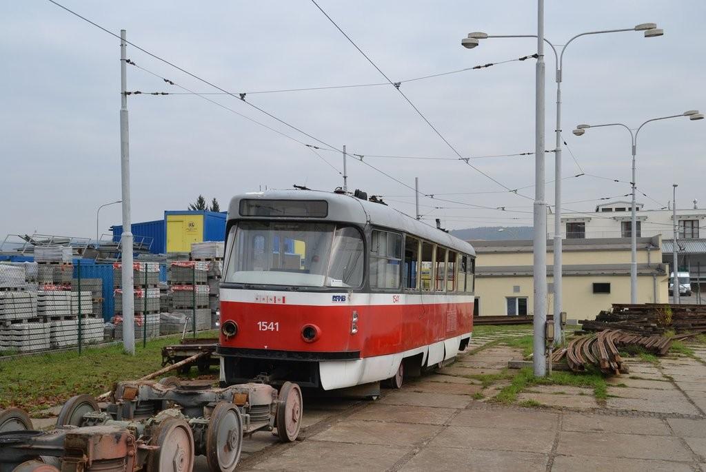 Fotogalerie » ČKD Tatra T3M 1541 | Brno | vozovna Medlánky