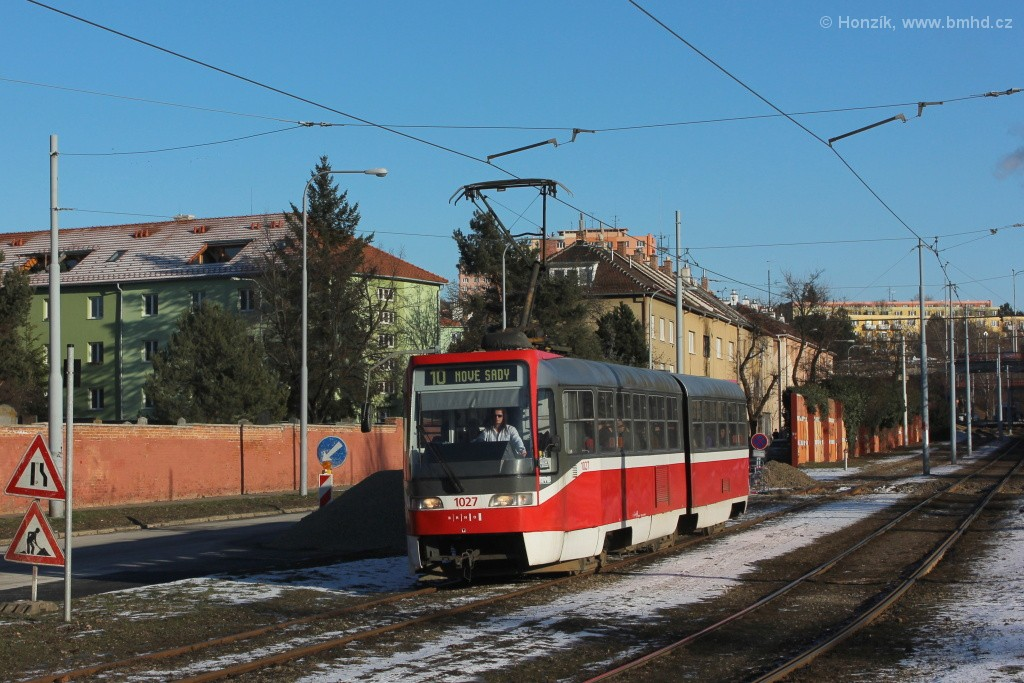 Fotogalerie » ČKD Tatra K2R03 1027 | Brno | Židenice | Nezamyslova