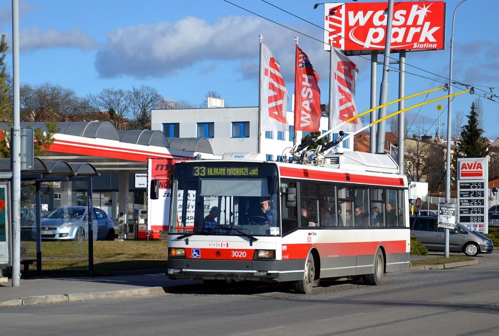 Fotogalerie » Škoda 21Tr 3020 | Brno | Slatina | Hviezdoslavova | Vozovna Slatina