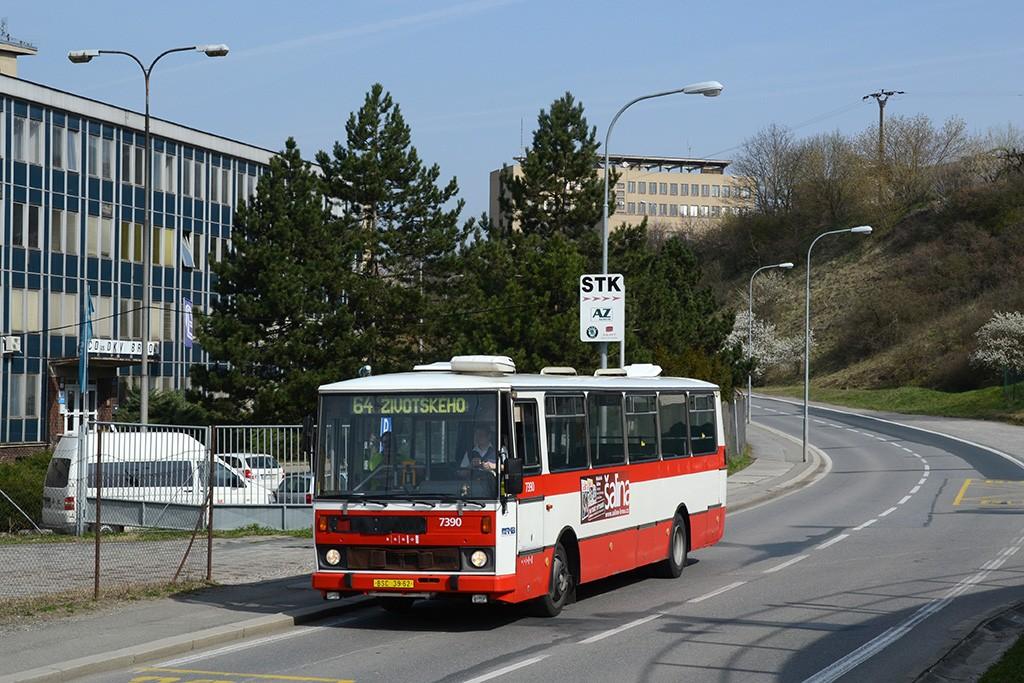 Fotogalerie » Karosa B732.1654.3 BSC 39-62 7390 | Brno | Maloměřice | Kulkova | Železniční stavitelství