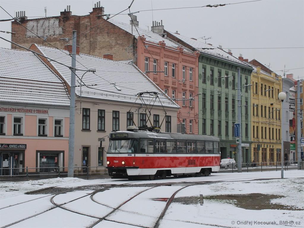 Fotogalerie » ČKD Tatra T3P 1564 | Brno | Staré Brno | Mendlovo náměstí