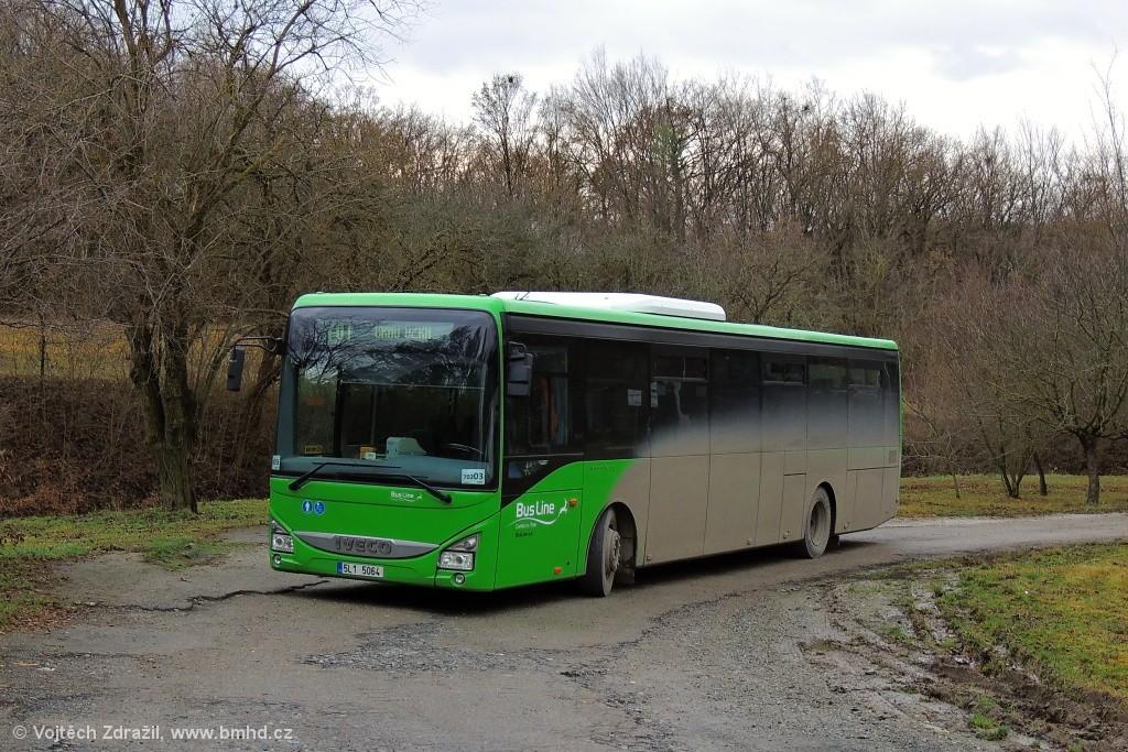 Fotogalerie » Iveco Crossway LE LINE 12M 5L1 5064 376 | Mokrá-Horákov | Mokrá-Horákov, lom