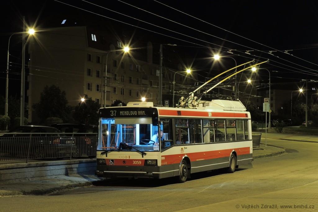 Fotogalerie » Škoda 21Tr 3059 | Brno | Kohoutovice | Libušina třída | Jírovcova