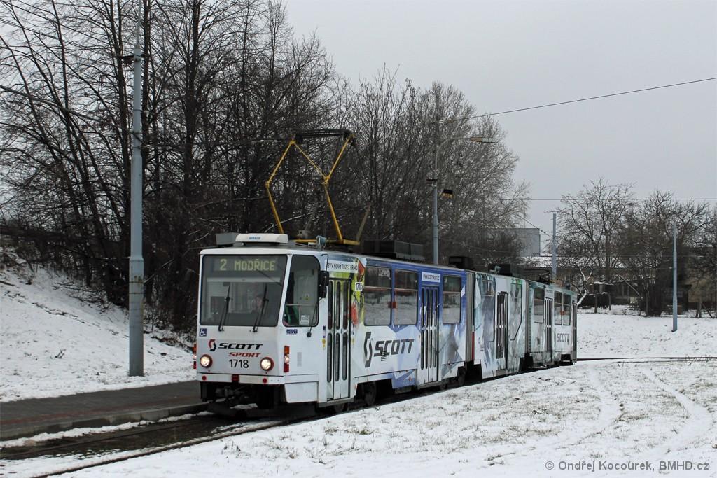 Fotogalerie » ČKD Tatra KT8D5R.N2 1718 | Brno | Modřice | Modřice