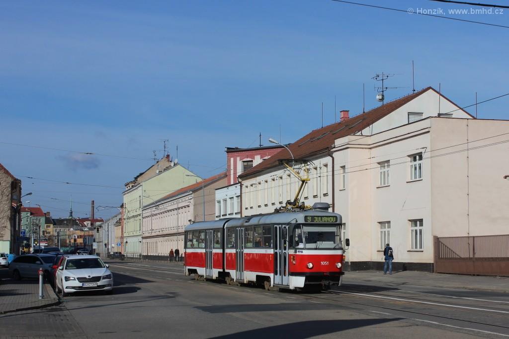 Fotogalerie » ČKD Tatra K2P 1051   Brno   Černovice   Olomoucká