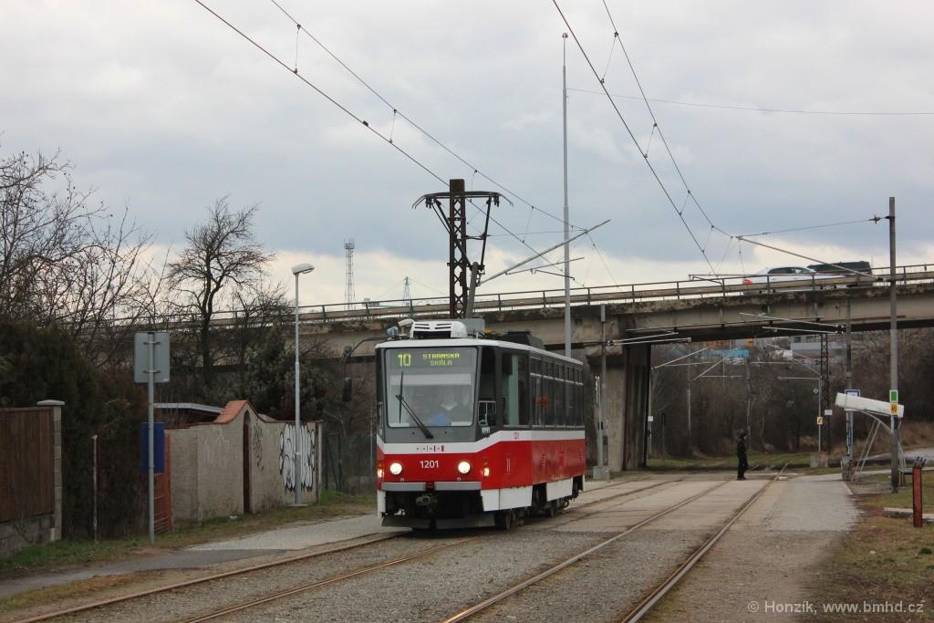 Fotogalerie » ČKD DS T6A5 1201 | Brno | Slatina | Podstránská | Podstránská