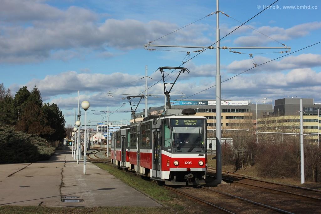Fotogalerie » ČKD DS T6A5 1205 | ČKD DS T6A5 1206 | Brno | Štýřice | Vídeňská