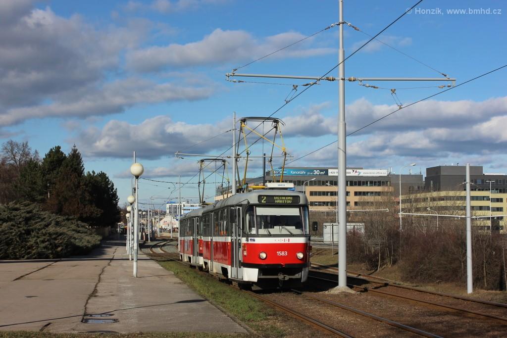 Fotogalerie » ČKD Tatra T3P 1583 | ČKD Tatra T3P 1576 | Brno | Štýřice | Vídeňská