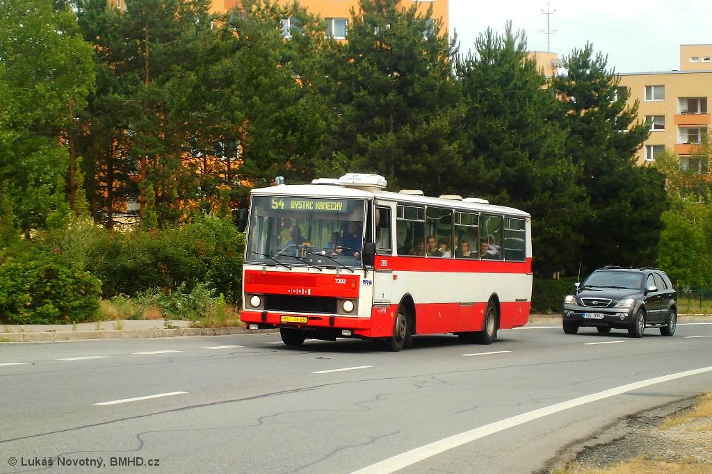 Fotogalerie » Karosa B732.1654.3 BSC 38-95 7392 | Brno | Bystrc | Vejrostova