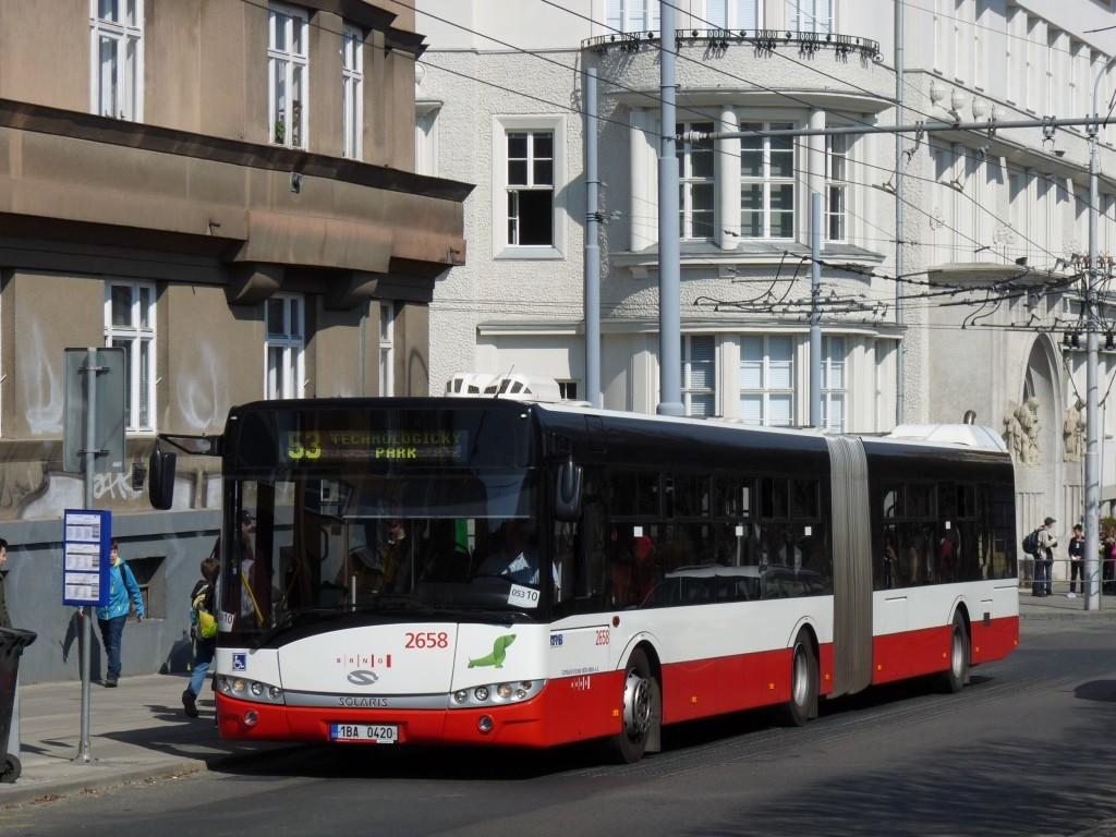 Fotogalerie » Solaris Urbino 18 III 1BA 0420 2658 | Brno | Královo Pole | Slovanské náměstí | Slovanské náměstí