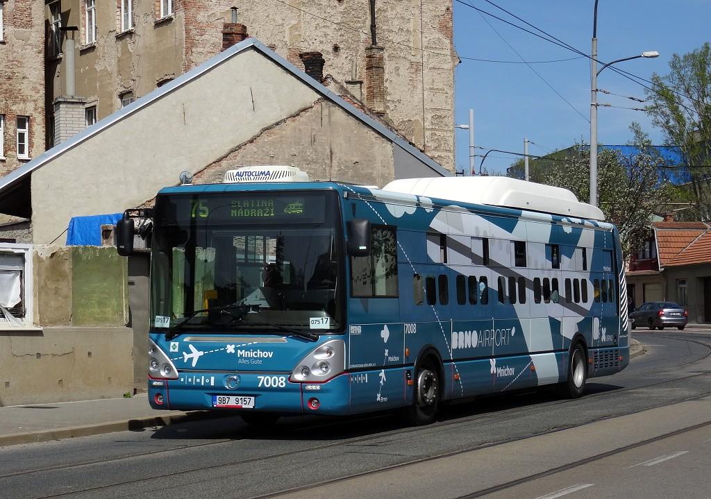 Fotogalerie » Irisbus Citelis 12M CNG 9B7 9157 7008   Brno   Maloměřice   Obřanská