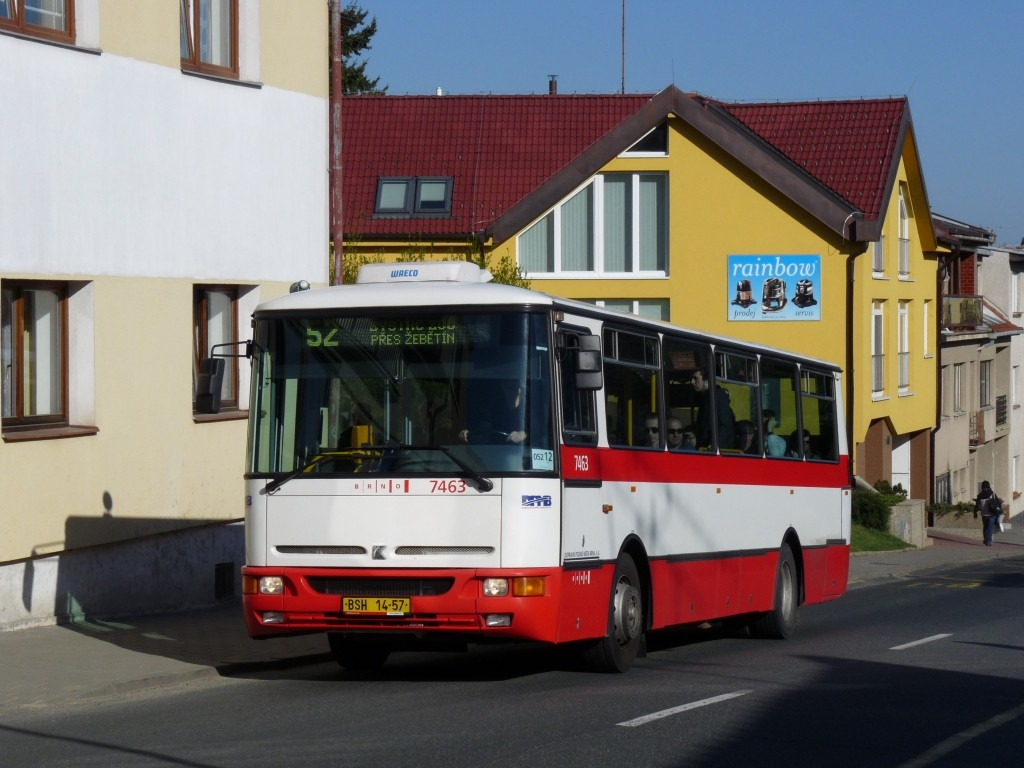 Fotogalerie » Karosa B931E.1707 BSH 14-57 7463 | Brno | Kohoutovice | Žebětínská