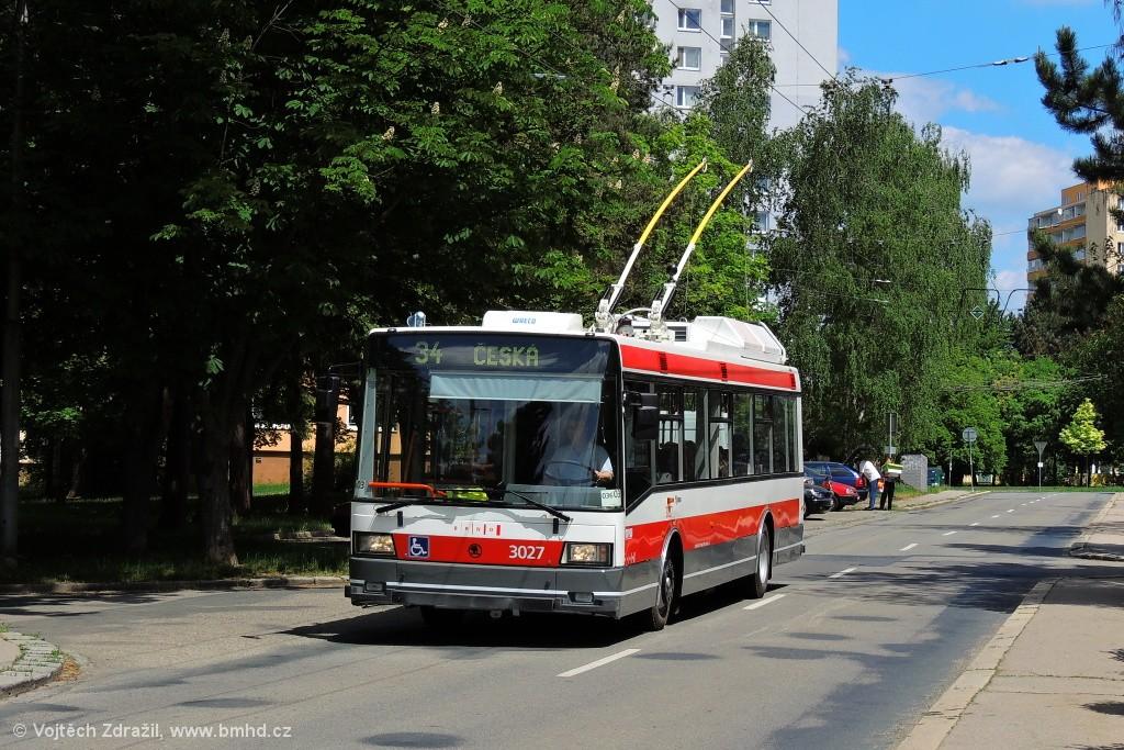 Fotogalerie » Škoda 21Tr 3027   Brno   Žabovřesky   Jindřichova