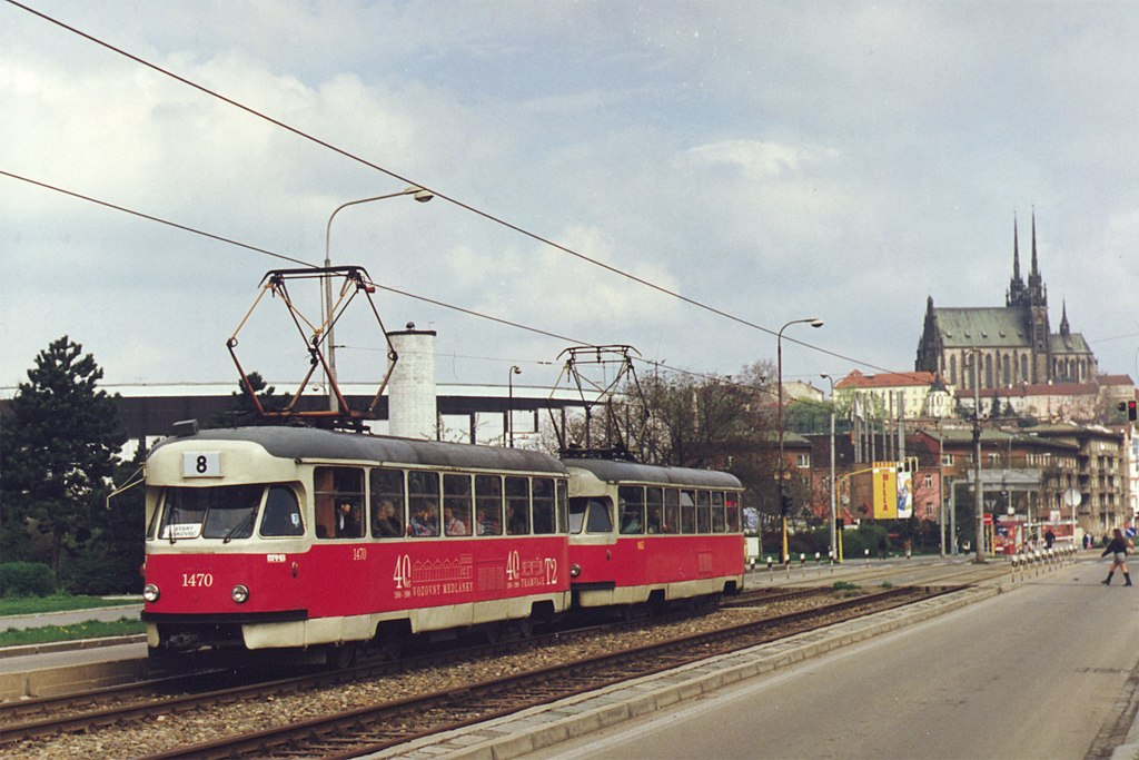 Fotogalerie » Tatra T2R 1470 | Tatra T2R 1462 | Brno | Štýřice | Renneská