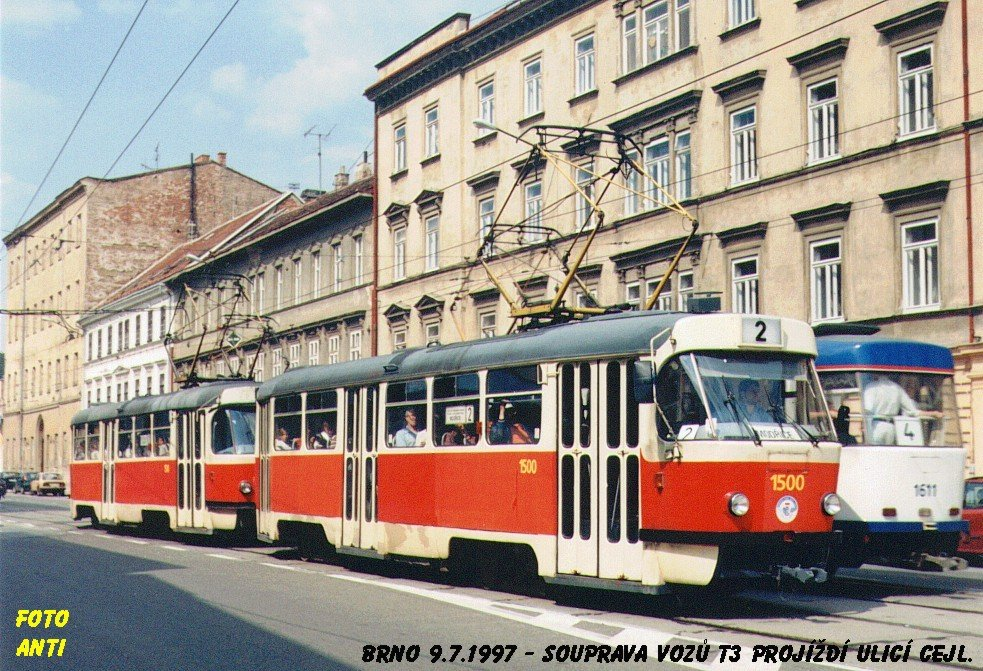 Fotogalerie » ČKD Tatra T3 1500 | Brno | Zábrdovice | Cejl