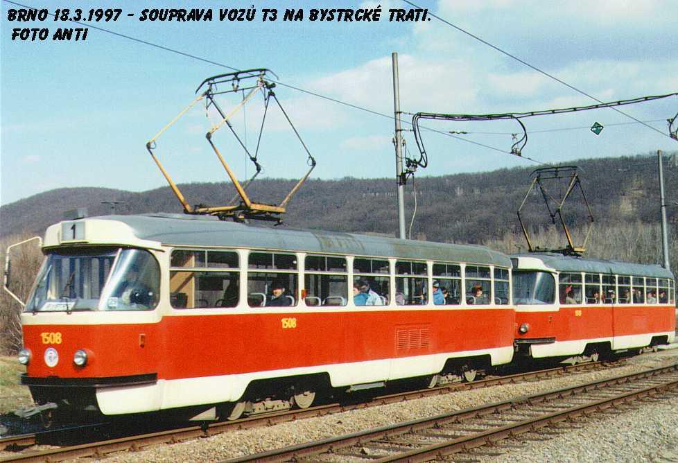 Fotogalerie » ČKD Tatra T3 1508 | Brno | Bystrc