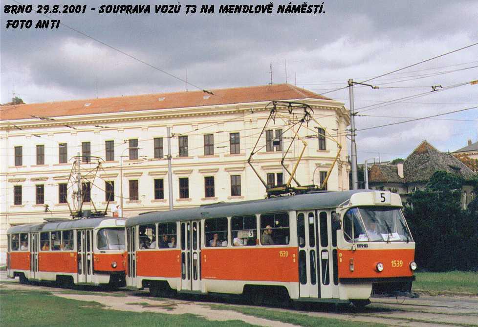 Fotogalerie » ČKD Tatra T3 1539   Brno   Staré Brno   Mendlovo náměstí