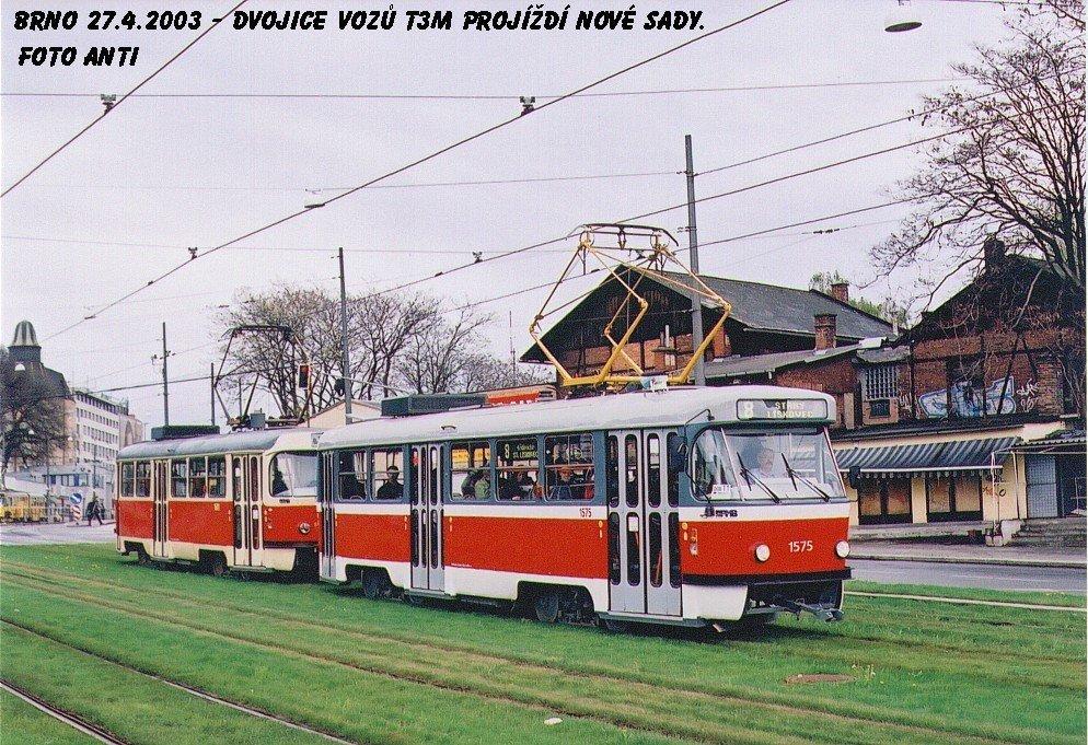 Fotogalerie » ČKD Tatra T3M 1575 | ČKD Tatra T3M 1601 | Brno | střed | Nové sady