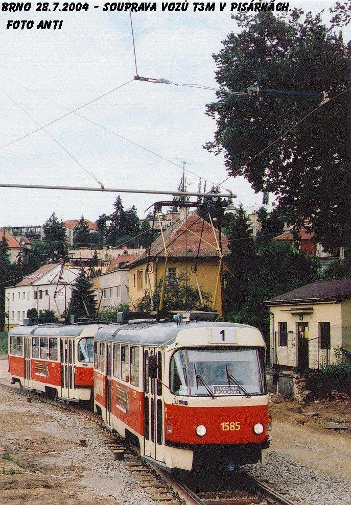 Fotogalerie » ČKD Tatra T3M 1585 | ČKD Tatra T3M 1594 | Brno | Pisárky | Žabovřeská
