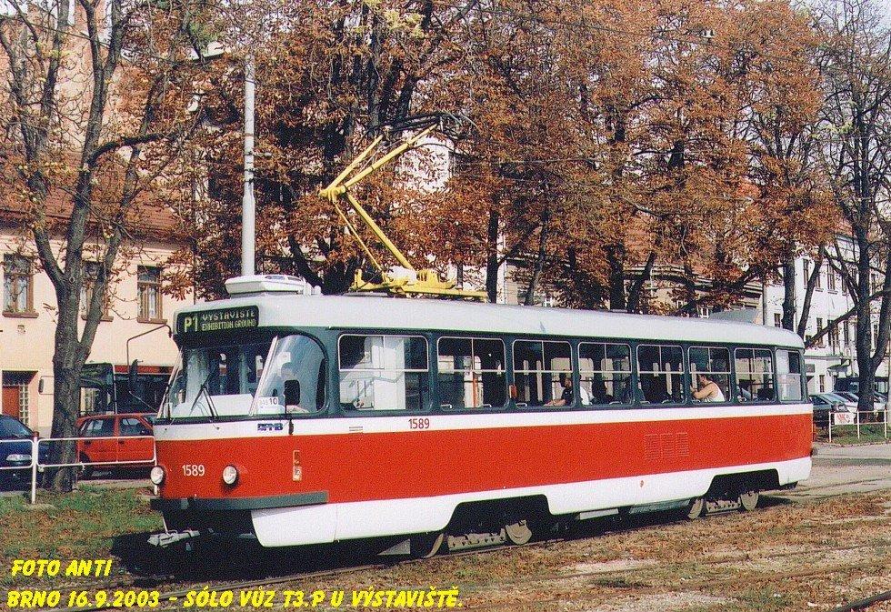 Fotogalerie » ČKD Tatra T3P 1589 | Brno | Pisárky | Hlinky | Výstaviště
