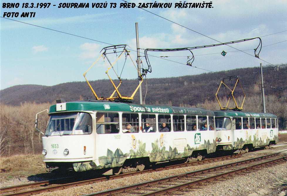 Fotogalerie » ČKD Tatra T3 1653   ČKD Tatra T3 1654   Brno   Bystrc