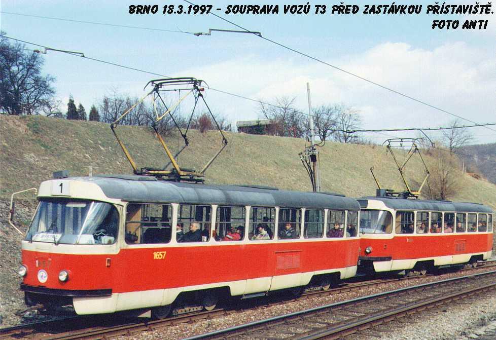 Fotogalerie » ČKD Tatra T3 1657 | ČKD Tatra T3 1658 | Brno | Bystrc