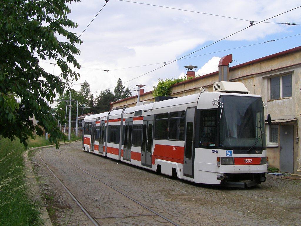 Fotogalerie » ČKD DS RT6N1 1802 | Brno | vozovna Medlánky