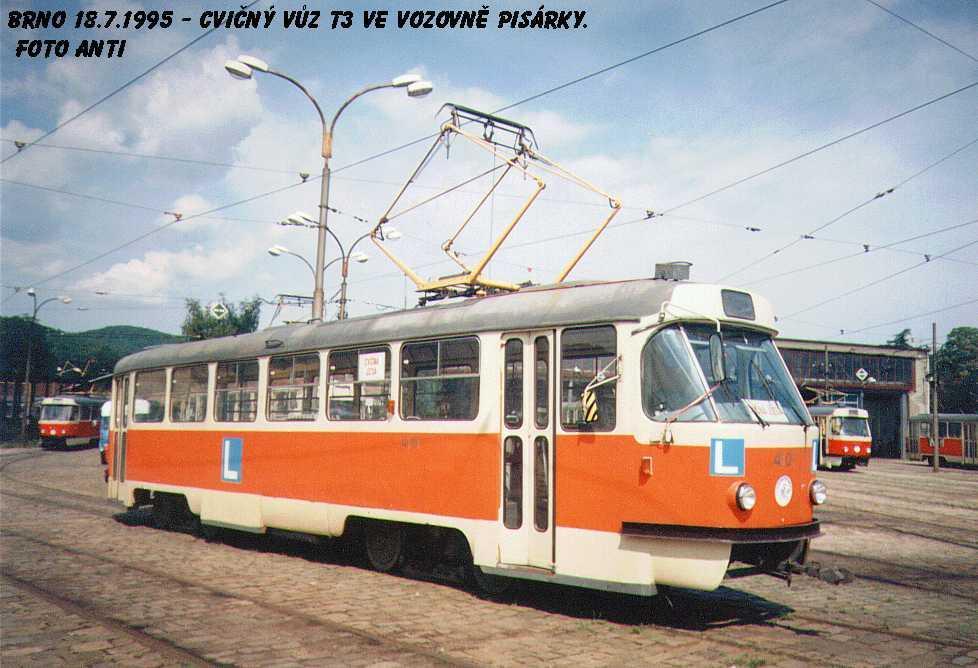 Fotogalerie » ČKD Tatra T3 školní 4101 | Brno | vozovna Pisárky