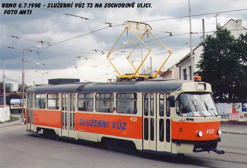 Fotogalerie » ČKD Tatra T3 služební 4123 | Brno | Žabovřesky | Rosického náměstí
