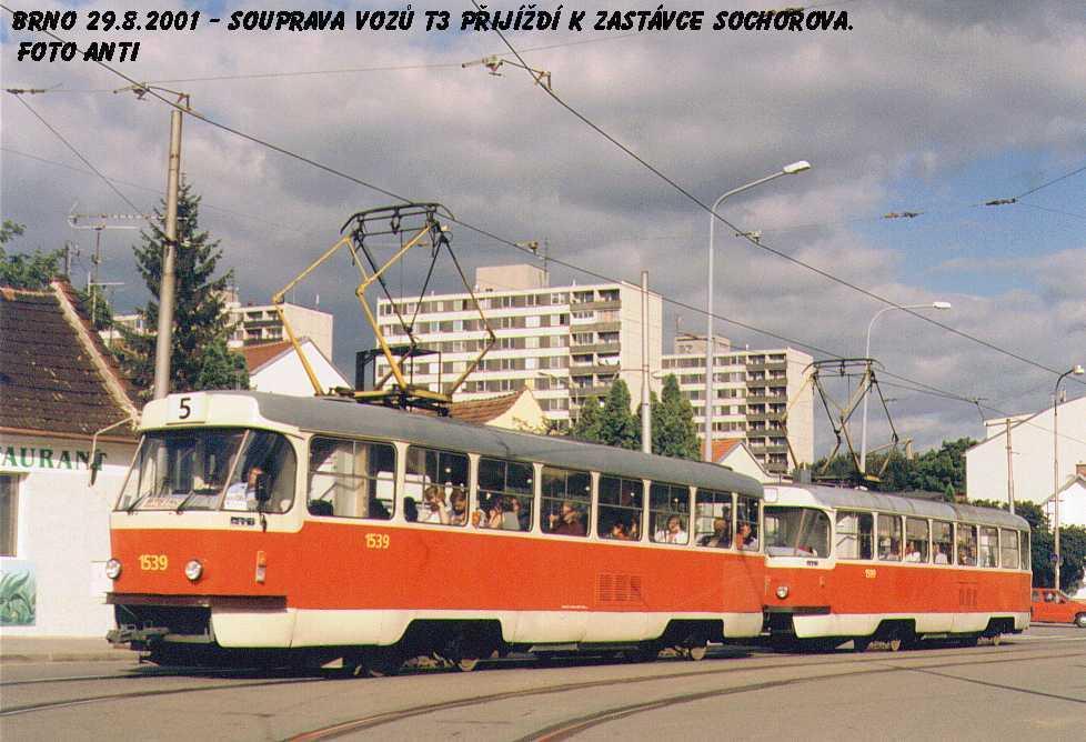 Fotogalerie » ČKD Tatra T3 1539 | Brno | Žabovřesky | Rosického náměstí
