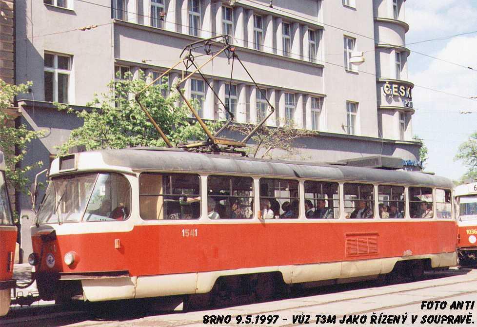 Fotogalerie » ČKD Tatra T3M 1541 | Brno | střed | Joštova | Česká