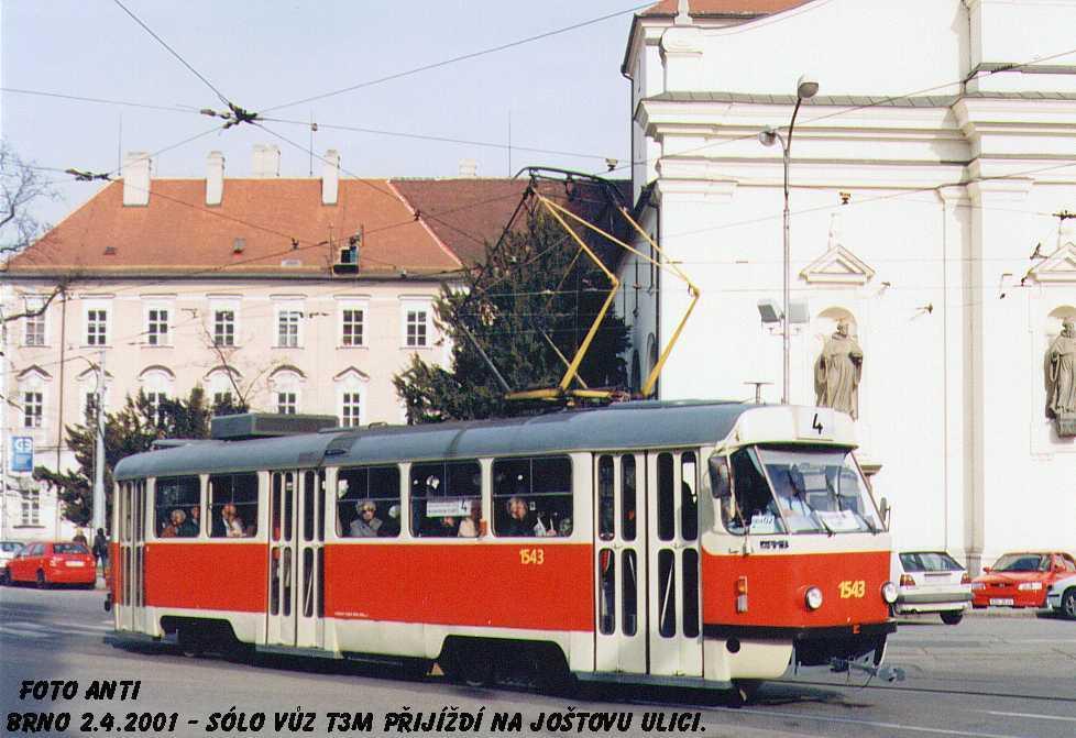 Fotogalerie » ČKD Tatra T3 1543 | Brno | střed | Moravské náměstí